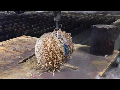 Rubber Band Ball vs Waterjet Cutter