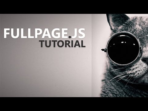 Fullpage.js Tutorial - Part 1: Introduction