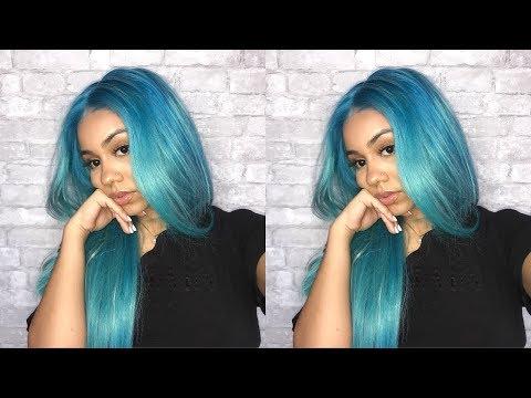 HOW I DYED MY HAIR SKY BLUE 💙 (Lakihair)