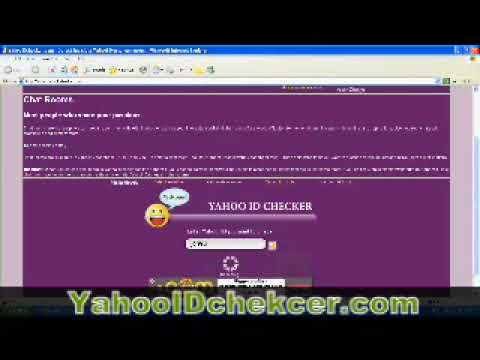 Yahoo online friends' invisible ID checker
