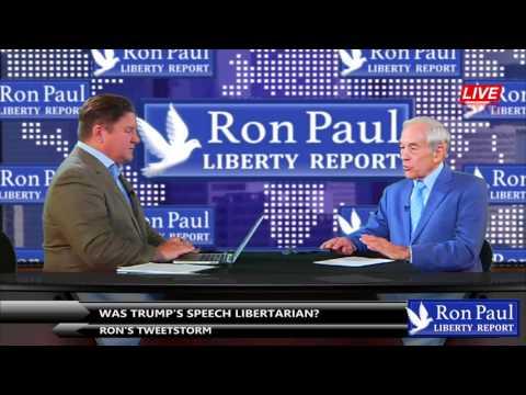 Ron's Tweetstorm - Was Trump's Speech Libertarian?