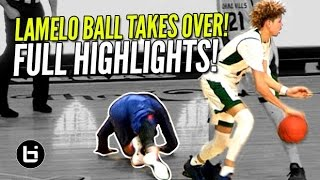 LaMelo Ball TAKES OVER In Chino Hills Comeback Win vs Roosevelt! FULL Highlights!