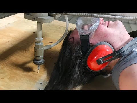 Haircut With A 60,000 PSI Waterjet