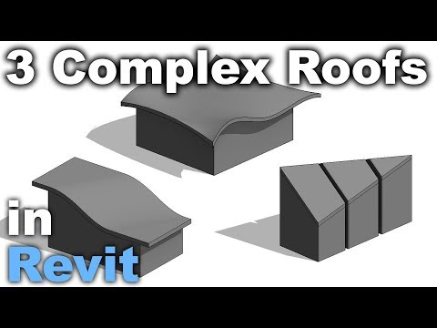 3 Complex Roof Shapes in Revit