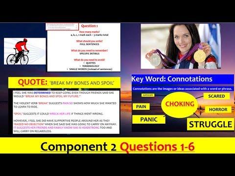 EDUQAS GCSE English Language Paper 2 ALL QUESTIONS Video (Cycling)