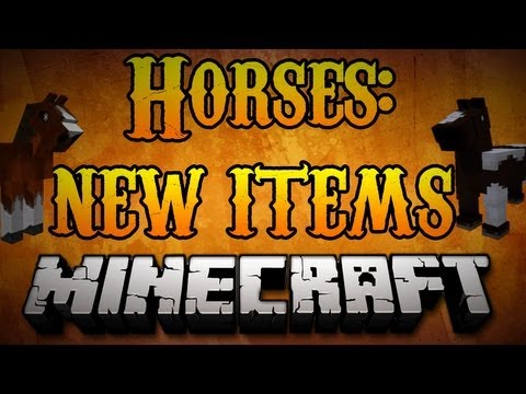 Minecraft Horses - How to use NEW (Hay, Lead, Saddle) Items for Horses  Minecraft 1.8
