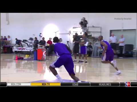 LA Lakers 3 Man Passing (Conditioning Fast Break & Passing Drill)