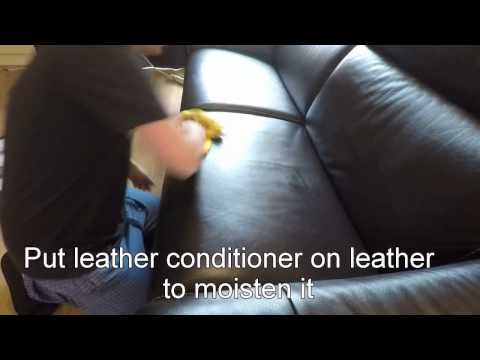 Leather Couch wrinkle removal with heatgun