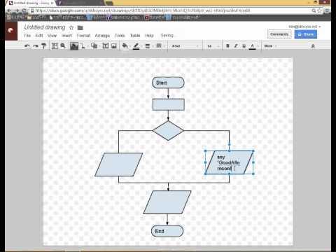 Google applications : Draw - flowchart