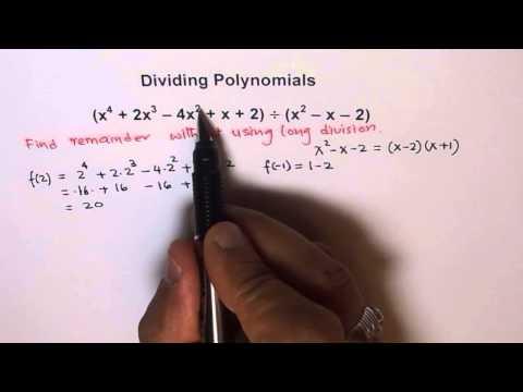Remainder Theorem to Find Remainder For Divisor of Degree 2