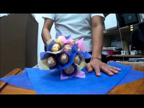 DIY ferrero bouquet for Diana Lee