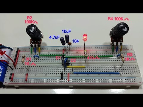 1 second cycle variable timer using 555 timer in Tamil & English, 1 sec astable multivibrator