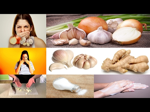 How To Get Rid Of Garlic, Ginger And Onion Smell from your Hands |  Get Rid of Onion / Garlic Smell