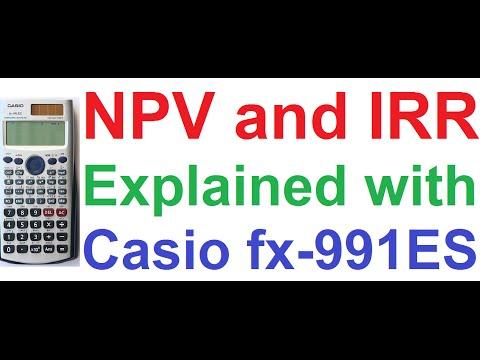 Net Present Value (NPV) & Internal Rate of Return (IRR), Uneven Cash Flows on Casio fx-991ES