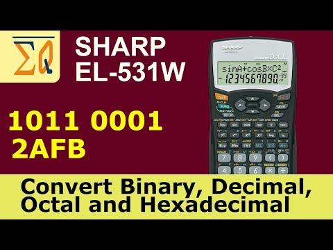 Sharp EL-531W Convert Binary, Decimal, Hexadecimal, Octal and bitwise