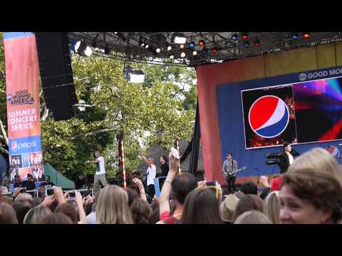 All Time Low - The Wanted (Good Morning America Summer Concert Series 2012)