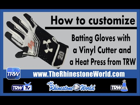 Creating Custom Batting Glove with the Silhouette Cameo Cutter and a Heat Press