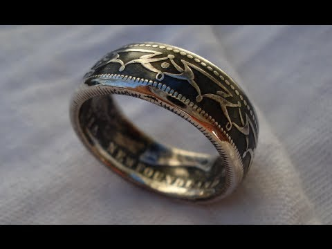 How to Contrast a Silver Coin Ring - Patina Finish