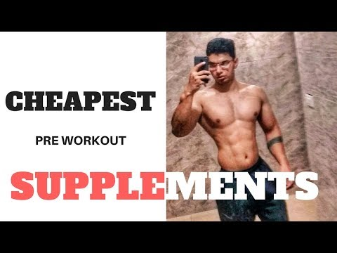 Most Affordable Pre Workout Supplements | Cheapest Supplements | Supplements From Chemist Shop