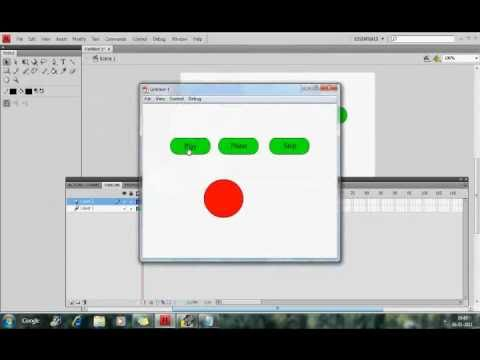 Play, Pause and Stop Buttons In Flash