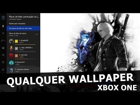 FUNDO PERSONALIZADO DO XBOX ONE QUALQUER WALLPAPER