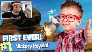 GETTING LITTLE KID HIS FIRST EVER FORTNITE WIN!!!