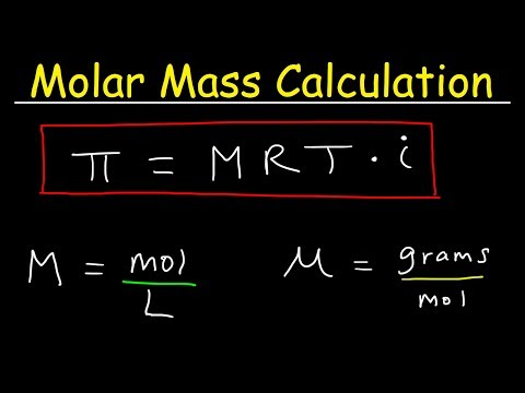 Molar Mass From Osmotic Pressure - Molarity & Van't Hoff Factor - Chemistry Problems