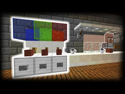 Minecraft - How to make a Working Slush Machine