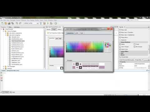 Java Swing 46: Color Chooser