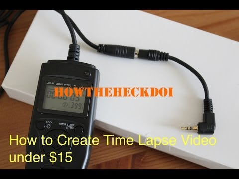 How to Create Time Lapse Movies in iMovies under 15$ with an Intervalometer