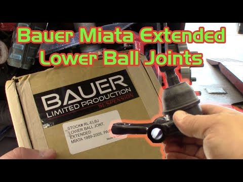 How to Install Bauer Miata Extended Lower Ball Joints