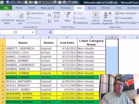 Mr Excel & excelisfun Trick 90: Remove Earlier Duplicates, Keep Last  Duplicate