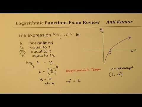 Logarthmic Functions Part 1 Multiple Choice Review Pre Calculus