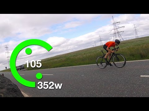 352 Watts 20 Mins | Cycling FTP Test with Power Data