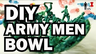 DIY Plastic Army Men Bowl - The Return of PINOMETER - Man Vs Pin