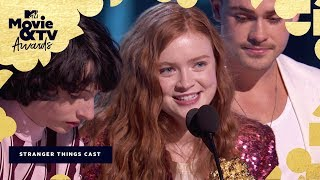 The 'Stranger Things 2' Cast Accepts the Award for Best Show | 2018 MTV Movie & TV Awards