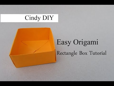Easy Origami Rectangle Box Tutorial For Beginner Craft | Cindy DIY