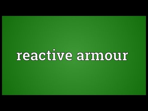 Reactive armour Meaning