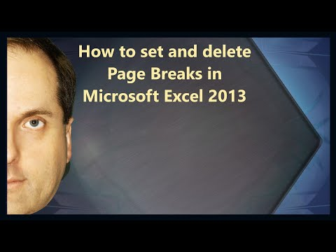 How to set and delete Page Breaks in Microsoft Excel 2013