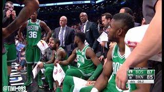 Boston Celtics Last 1:30 of Game vs Brooklyn Nets UNCUT (01/06/2018)