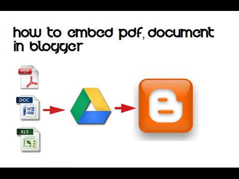 HOW TO EMBED PDF,DOCUMENT IN BLOGGER
