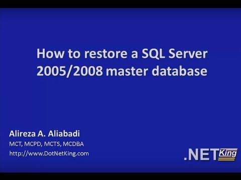 How to restore SQL Server 2005-2008 master database