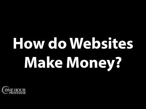 How do websites make money?
