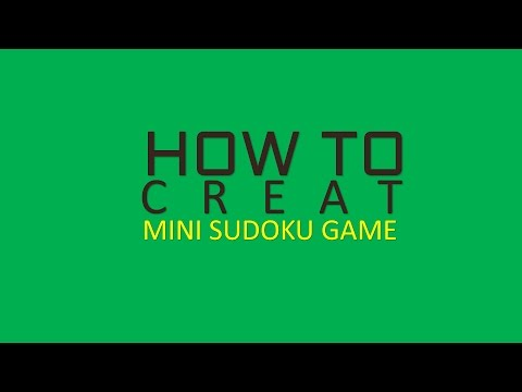 Create Your Own SUDOKU Game