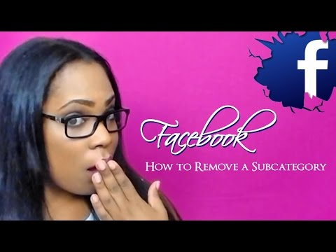 Facebook Subcategories- How to Remove Facebook Page Subcategories (Change category to Public Figure)