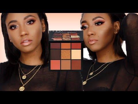 Quick Warm Smokey Eye |Huda Beauty Warm Brown Obsessions Palette| Flowerpush