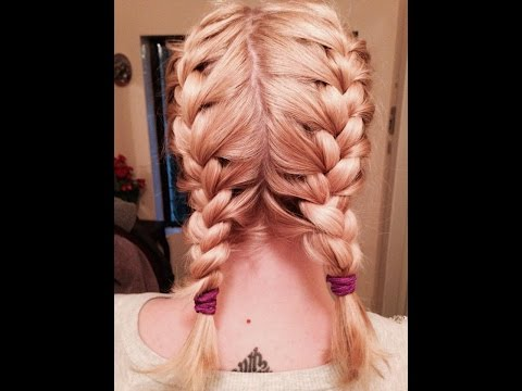Make-Up My Mind Self French Braid Pigtails Tutorial