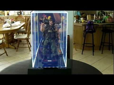 ACRYLIC DISPLAY CASE with LEDs for HOT TOYS, ENTERBAY, SIDESHOW, MEDICOM, & other 12