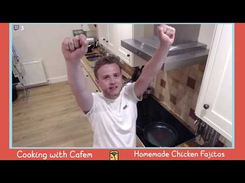 Ep. 2 || Cooking with Cafem - Homemade Chicken Fajitas|| Twitch Catchup