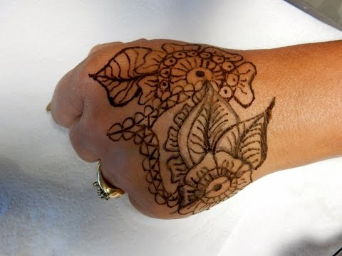 * HENNA * BEGINNER --- Transfering Images & Drawing---LINK where I got my Henna in description box